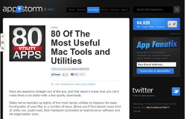 http://mac.appstorm.net/roundups/utilities-roundups/80-of-the-most-useful-mac-tools-and-utilities/
