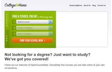 http://www.collegeathome.com/open-courseware/