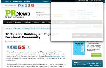 http://www.prnewsonline.com/featured/2011/11/11/10-tips-for-building-an-engaged-facebookcommunity/