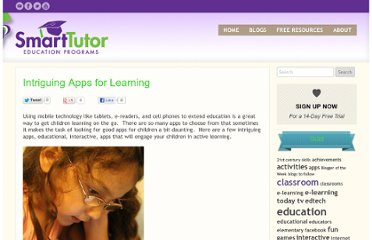 http://thinkonline.smarttutor.com/intriguing-apps-for-learning/