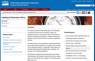 http://www.ers.usda.gov/topics/food-safety/labeling-information-policy.aspx#.UVNB4tF-P0M