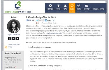 http://commandpartners.com/blog/8-website-design-tips-for-2013