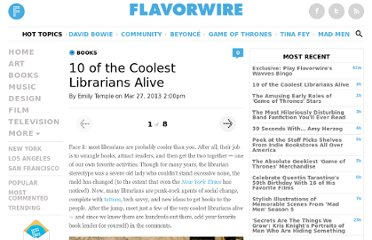 http://flavorwire.com/380345/10-of-the-coolest-librarians-alive