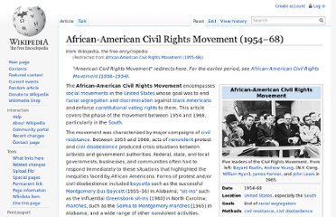 http://en.wikipedia.org/wiki/African-American_Civil_Rights_Movement_(1955%E2%80%9368)