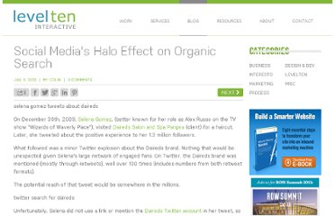 http://www.leveltendesign.com/blog/colin/social-medias-halo-effect-organic-search#.UVNnDNF-P0M