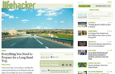 http://lifehacker.com/5992643/everything-you-need-to-prepare-for-a-long-road-trip