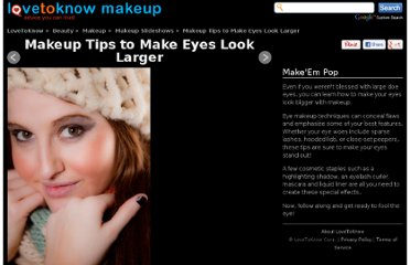 http://makeup.lovetoknow.com/How_to_Make_Your_Eyes_Look_Bigger_with_Makeup