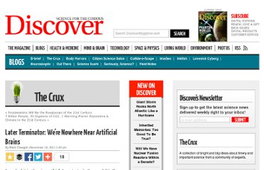 http://blogs.discovermagazine.com/crux/2011/11/16/later-terminator-were-nowhere-near-artificial-brains/