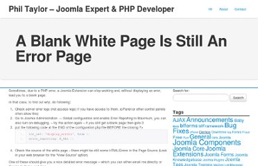 http://www.phil-taylor.com/2009/01/12/a-blank-white-page-is-still-an-error-page/#.UVO3U9F-P0N