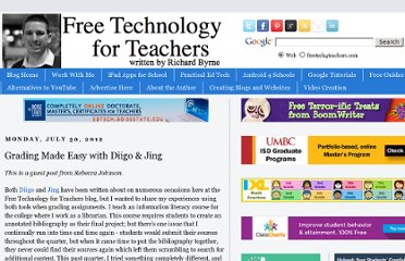 http://www.freetech4teachers.com/2012/07/grading-made-easy-with-diigo-jing.html#.UVPDBdF-P0M