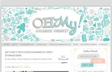 http://ohmyhandmade.com/2011/contributors/get-crafty-with-your-cleaning-diy-craft-storage-ideas/
