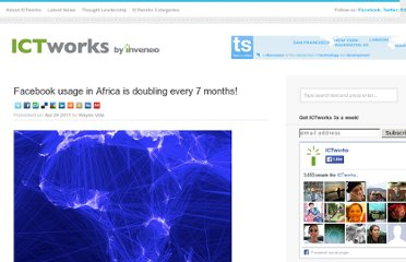http://www.ictworks.org/news/2011/04/29/facebook-usage-africa-doubling-every-7-months/