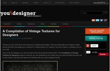 http://www.youthedesigner.com/2010/06/10/a-compilation-of-vintage-textures-for-designers/