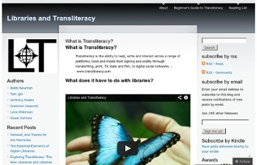 http://librariesandtransliteracy.wordpress.com/what-is-transliteracy/