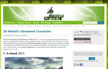 http://greenbuzzz.net/environment/10-worlds-greenest-countries/
