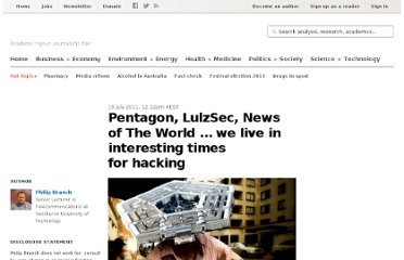 http://theconversation.com/pentagon-lulzsec-news-of-the-world-we-live-in-interesting-times-for-hacking-2372