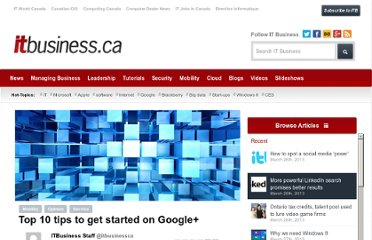 http://www.itbusiness.ca/slideshows/top-10-tips-to-get-started-on-google