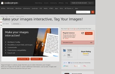 http://codecanyon.net/item/make-your-images-interactive-tag-your-images/2707794