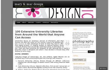 http://maryandmacdesign.wordpress.com/2009/09/22/100-extensive-university-libraries-from-around-the-world-that-anyone-can-access/