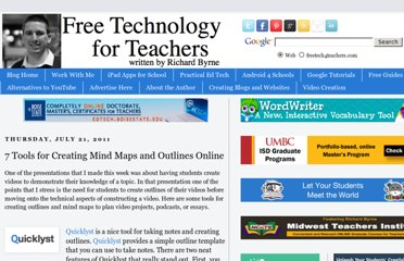 http://www.freetech4teachers.com/2011/07/seven-tools-for-creating-mind-maps-and.html#.UVRsvtF-P0M