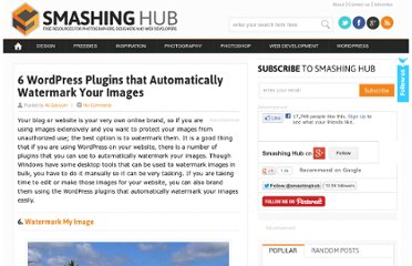 http://smashinghub.com/6-wordpress-plugins-that-automatically-watermark-your-images.htm
