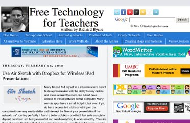 http://www.freetech4teachers.com/2012/02/use-air-sketch-with-dropbox-for.html#.UVR_GdF-P0M
