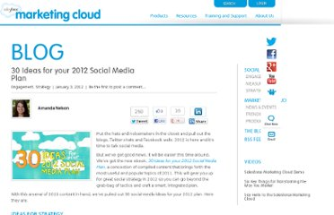 http://www.salesforcemarketingcloud.com/blog/2012/01/30-ideas-for-your-2012-social-media-plan/