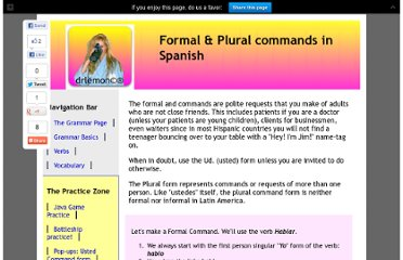 http://www.drlemon.com/Grammar/Formal-commands.html#.UVSB4dF-P0M