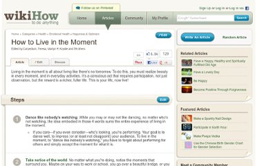 http://www.wikihow.com/Live-in-the-Moment