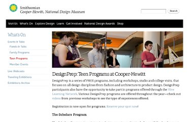 http://www.cooperhewitt.org/learning/youth-programs