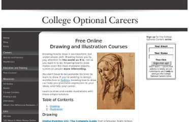 http://www.college-optional-careers.com/free-online-drawing-illustration-courses.html