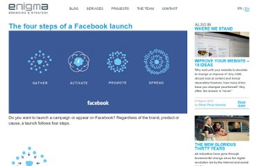 http://enigmaprod.ch/en/where-we-stand-3/the-four-steps-of-a-facebook-launch/