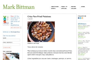 http://markbittman.com/crisp-pan-fried-potatoes/