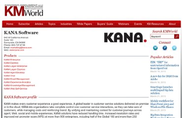 http://www.kmworld.com/BuyersGuide/KANA-Software-936.aspx
