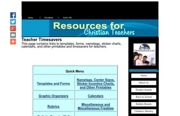 http://www.teacherhelp.org/teacher_timesavers.htm#.UVUB79F-P0M