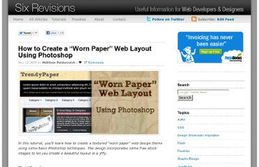 http://sixrevisions.com/tutorials/photoshop-tutorials/how-to-create-a-worn-paper-web-layout-using-photoshop/