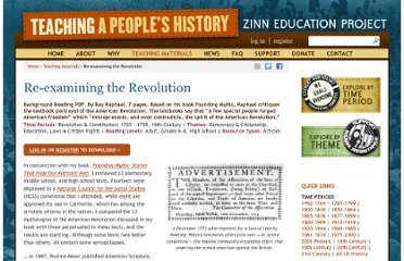 http://zinnedproject.org/materials/re-examining-the-revolution/