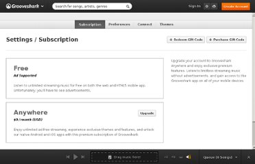 http://grooveshark.com/#!/settings/subscription