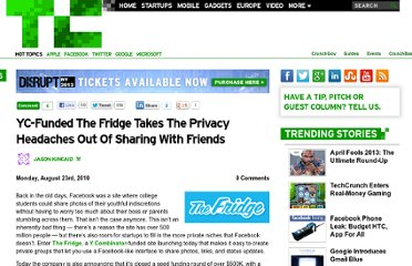 http://techcrunch.com/2010/08/23/the-fridge-facebook-sharing/