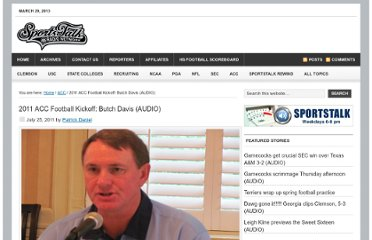 http://sportstalksc.com/index.php/2011/07/25/2011-acc-football-kickoff-butch-davis/