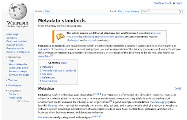 http://en.wikipedia.org/wiki/Metadata_standards