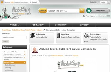 http://www.robotshop.com/blog/en/arduino-microcontroller-feature-comparison-3647
