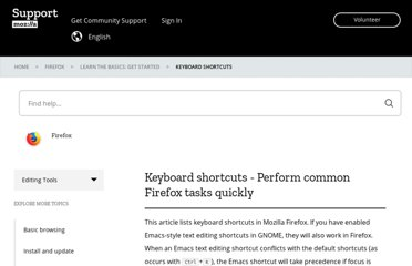 https://support.mozilla.org/en-US/kb/keyboard-shortcuts-perform-firefox-tasks-quickly
