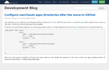 http://owncloud.org/configure-ownclouds-apps-directories-after-the-move-to-github-2/