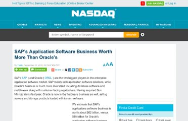 http://www.nasdaq.com/article/saps-application-software-business-worth-more-than-oracles-cm37214#.UVWt19F-P0M