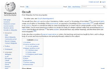 http://en.wikipedia.org/wiki/Occult
