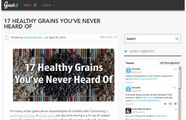 http://greatist.com/health/17-healthy-grains-you%E2%80%99ve-never-heard