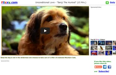 http://www.flixxy.com/unconditional-love-benji-the-hunted.htm#.UVXohtF-P0N