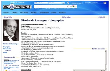 http://www.cinemotions.com/biographie-Nicolas-de-Lavergne-nm490288