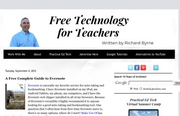 http://www.freetech4teachers.com/2012/09/a-free-complete-guide-to-evernote.html#.UVYdr9F-P0M